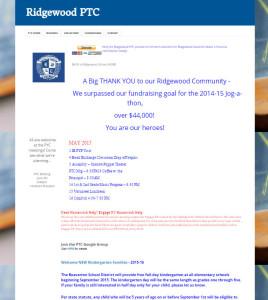 Screenshot of old PTC website